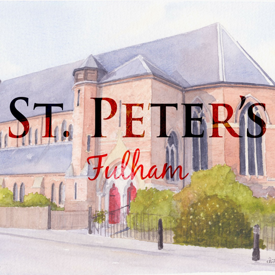 St peters fulham church logo watercolour square small