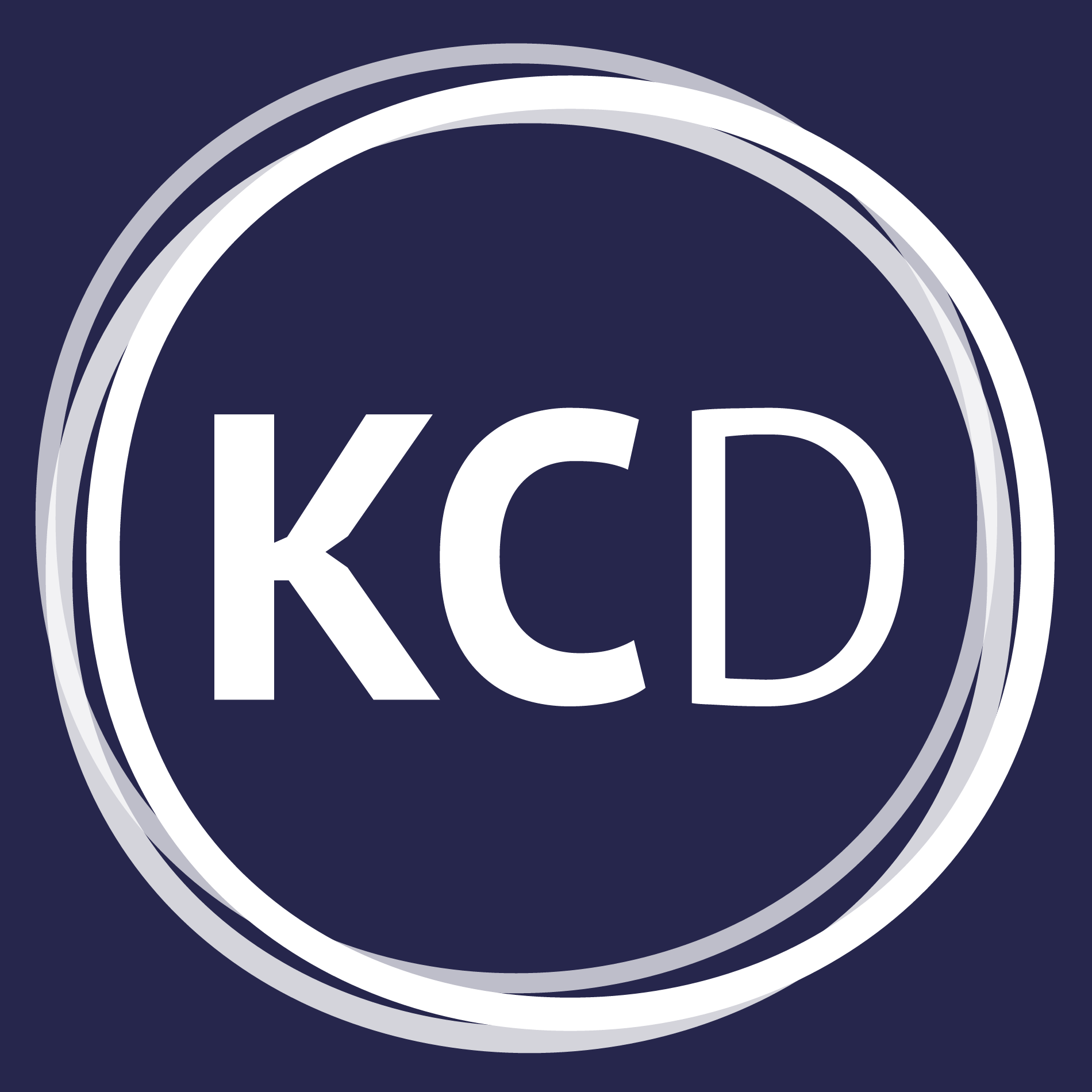 Kcd square   white on blue