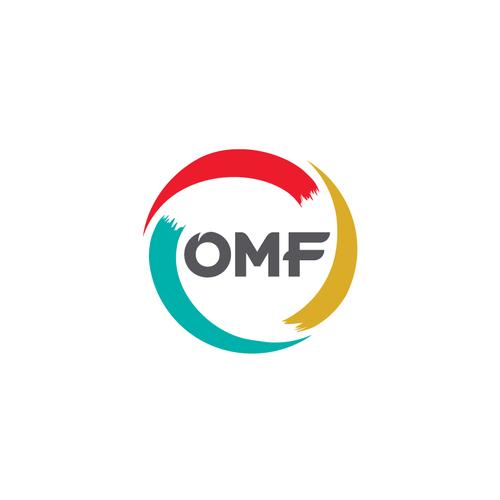 Omf logo col grey  text